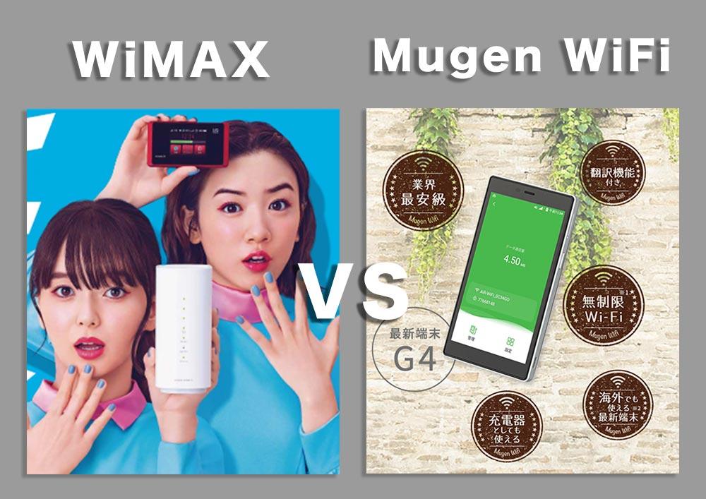 MugenWiFiとWiMAXの比較