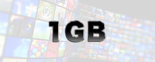 1GBはどのくらいの通信量?