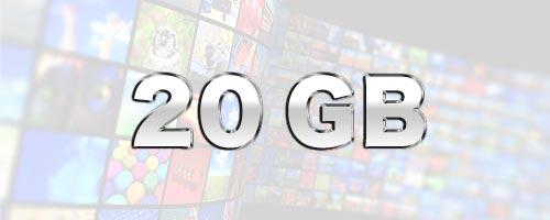 20GBはどのくらいの通信量か
