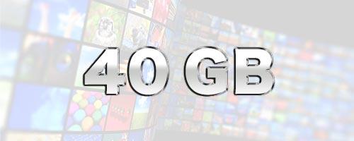 40GBはどのくらいのデータ通信量か