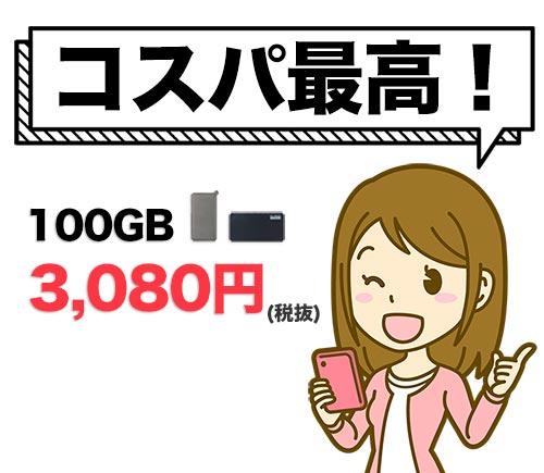 どこよりもWiFiの100GBしばりありプランはコスパが良い