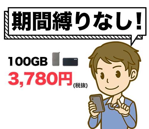 どこよりもWiFiの100GBしばりなしプランは期間しばりなし